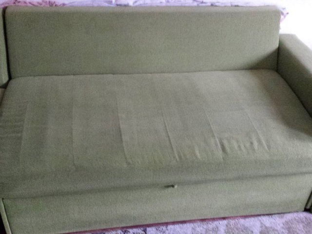 Sofa cleaning - after services (green)