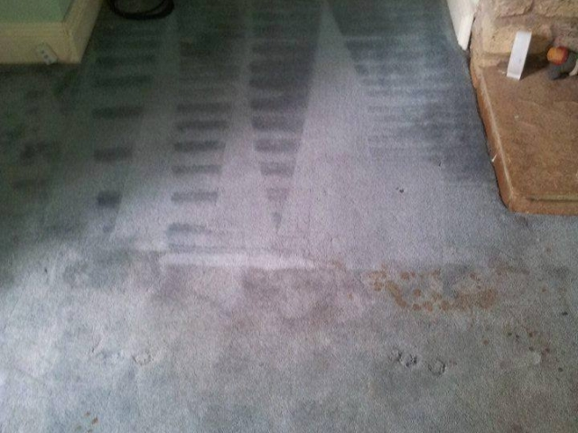 Carpet cleaning - before and after - gray carpet