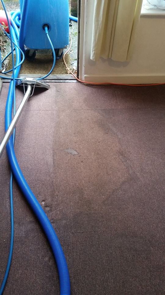 Carpet stains removing process